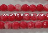 CTU2621 15.5 inches 6mm faceted round synthetic turquoise beads