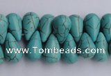 CTU27 14.5 inches 10*17mm teardrop blue turquoise beads Wholesale