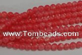 CTU2730 15.5 inches 4mm round synthetic turquoise beads