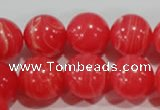 CTU2736 15.5 inches 16mm round synthetic turquoise beads