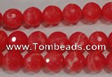 CTU2743 15.5 inches 10mm faceted round synthetic turquoise beads