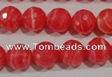 CTU2744 15.5 inches 12mm faceted round synthetic turquoise beads