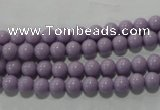 CTU2832 15.5 inches 5mm round synthetic turquoise beads