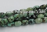 CTU407 15.5 inches 6*7mm rice African turquoise beads wholesale