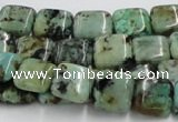 CTU410 15.5 inches 10*10mm square African turquoise beads wholesale