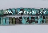CTU445 15.5 inches 5*8mm heishi African turquoise beads wholesale