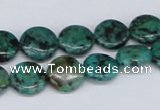 CTU456 15.5 inches 12mm flat round African turquoise beads wholesale