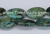 CTU466 15.5 inches 16*20mm oval African turquoise beads wholesale