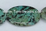 CTU469 15.5 inches 30*40mm oval African turquoise beads wholesale