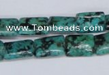 CTU471 15.5 inches 10*14mm rectangle African turquoise beads wholesale