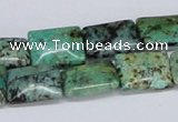 CTU472 15.5 inches 12*16mm rectangle African turquoise beads wholesale