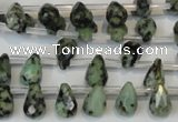 CTU488 Top-drilled 7*10mm faceted teardrop African turquoise beads