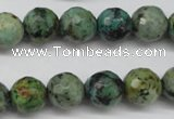 CTU554 15.5 inches 12mm faceted round African turquoise beads