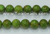 CTU600 15.5 inches 10mm round synthetic turquoise beads wholesale