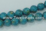 CTU602 15.5 inches 10mm round synthetic turquoise beads wholesale