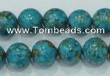 CTU603 15.5 inches 12mm round synthetic turquoise beads wholesale