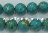 CTU605 15.5 inches 14mm round synthetic turquoise beads wholesale