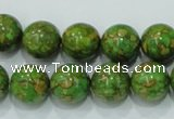 CTU607 15.5 inches 14mm round synthetic turquoise beads wholesale