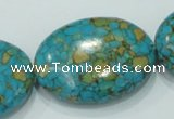CTU623 15.5 inches 30*40mm oval synthetic turquoise beads wholesale