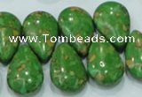 CTU627 16*25mm top-drilled teardrop synthetic turquoise beads