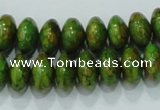 CTU638 15.5 inches 8*12mm rondelle synthetic turquoise beads wholesale
