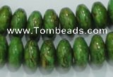 CTU639 15.5 inches 8*14mm rondelle synthetic turquoise beads wholesale