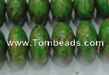 CTU640 15.5 inches 12*20mm rondelle synthetic turquoise beads