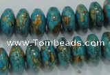 CTU642 15.5 inches 8*14mm rondelle synthetic turquoise beads wholesale