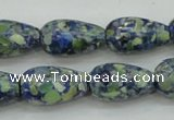 CTU653 15.5 inches 10*20mm teardrop synthetic turquoise beads wholesale