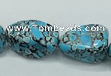 CTU669 15.5 inches 18*28mm nugget synthetic turquoise beads wholesale