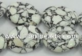 CTU670 15.5 inches 18*25mm oval synthetic turquoise beads wholesale
