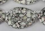 CTU686 15.5 inches 30*40mm flat teardrop synthetic turquoise beads