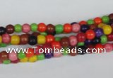 CTU700 15.5 inches 5mm round dyed turquoise beads wholesale