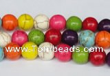 CTU702 15.5 inches 10.5mm round dyed turquoise beads wholesale