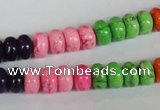 CTU705 15.5 inches 5*8mm rondelle dyed turquoise beads wholesale