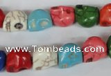 CTU711 15.5 inches 10*12*12mm skull dyed turquoise beads wholesale