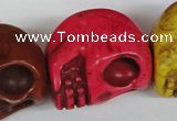 CTU714 15.5 inches 24*29*30mm skull dyed turquoise beads wholesale