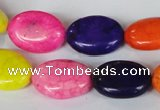 CTU717 15.5 inches 13*18mm oval dyed turquoise beads wholesale