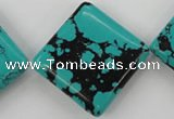 CTU950 15.5 inches 30*30mm diamond synthetic turquoise beads
