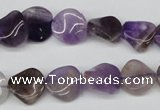 CTW02 15.5 inches 12mm twisted coin amethyst beads wholesale