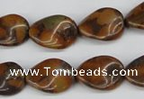 CTW62 15.5 inches 13*18mm twisted oval jasper gemstone beads