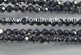 CTZ608 15.5 inches 2mm faceted round terahertz beads wholesale