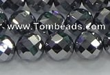 CTZ613 15.5 inches 12mm faceted round terahertz beads wholesale