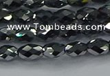 CTZ646 15.5 inches 5*8mm faceted rice terahertz beads wholesale
