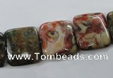 CUG160 15.5 inches 16*16mm square australian unakite beads