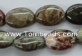 CUG167 15.5 inches 13*18mm oval australian unakite beads