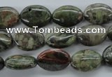 CUG168 15.5 inches 10*14mm oval australian unakite beads