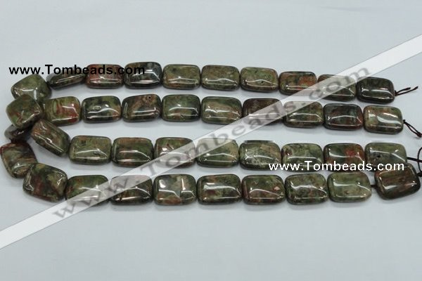 CUJ05 15.5 inches 15*20mm rectangle autumn jasper gemstone beads