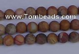 CVJ10 15.5 inches 4mm round matte venus jasper beads wholesale