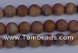 CVJ11 15.5 inches 6mm round matte venus jasper beads wholesale